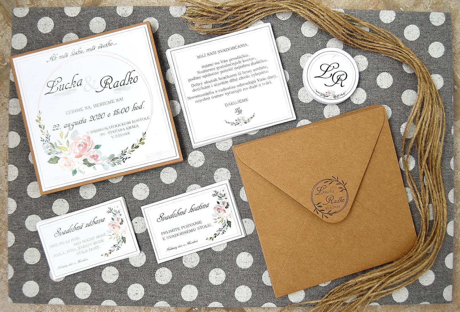 Wedding Time - ♥ naše homemade oznámenia ♥