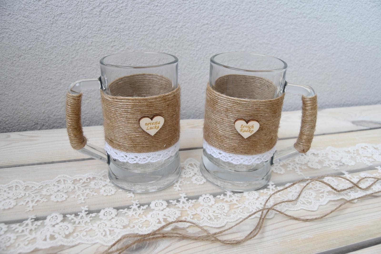 Wedding Time - naše svadobné pivové poháre :)