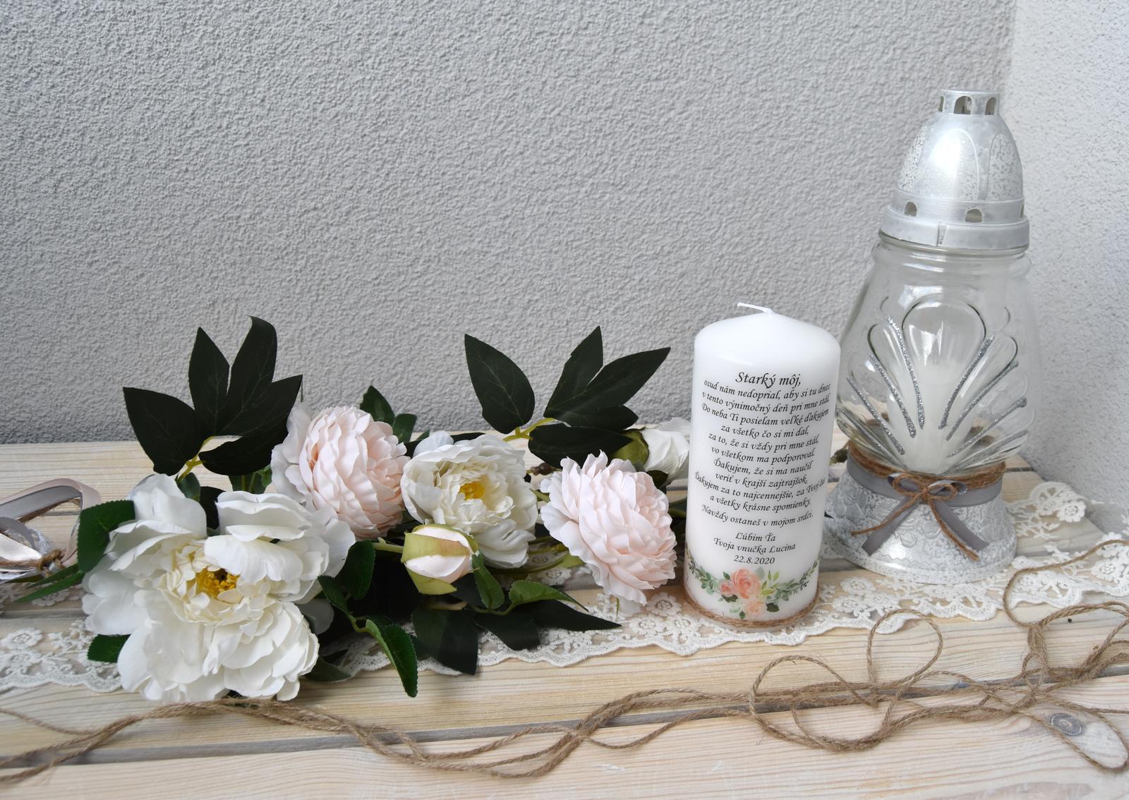 Wedding Time - svietnik, sviečka a kytička do vázy pre môjho hrdinu ♥