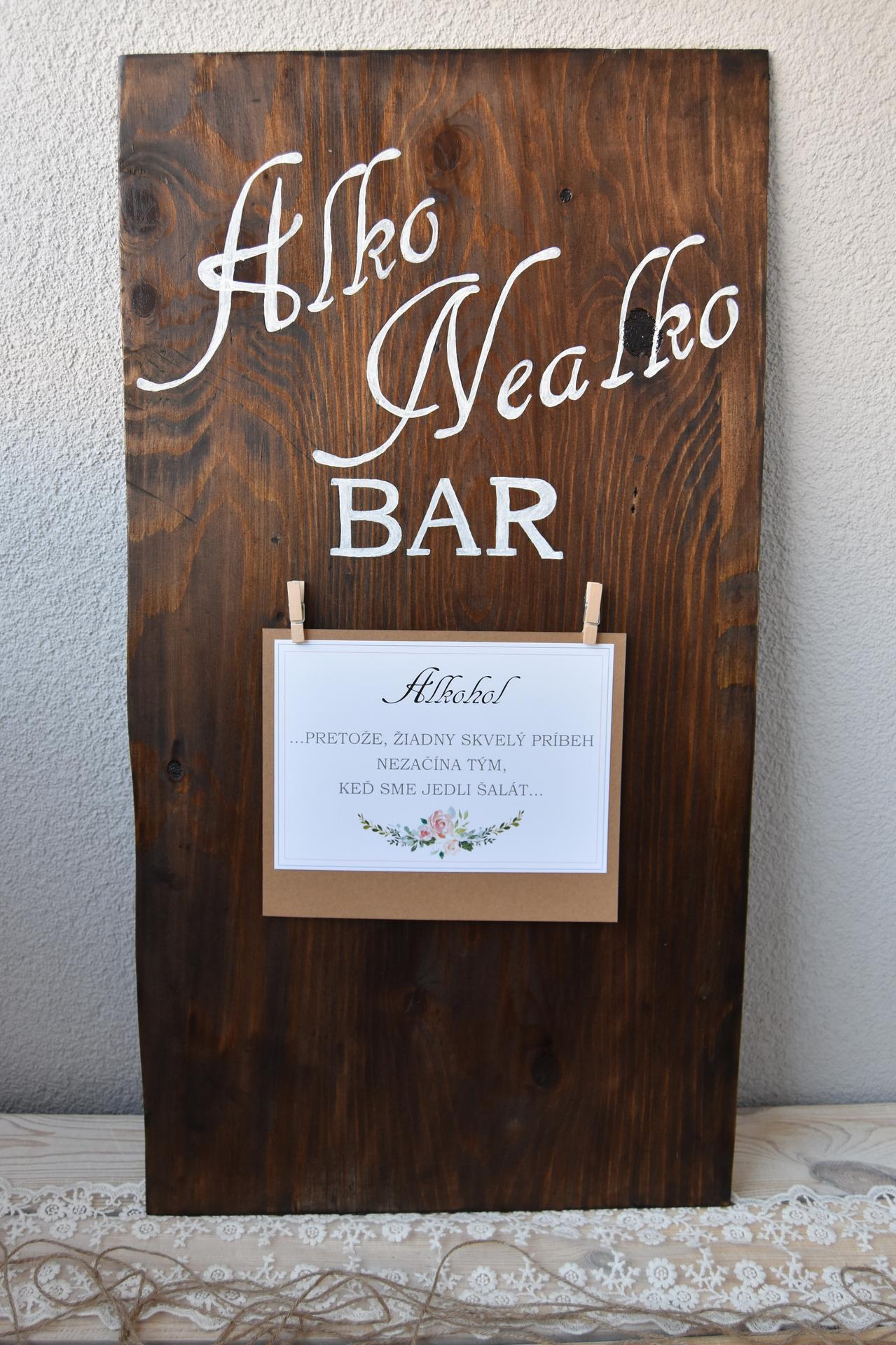 Wedding Time - na tabuli bude ešte zoznam alko/nealko nápojov :)