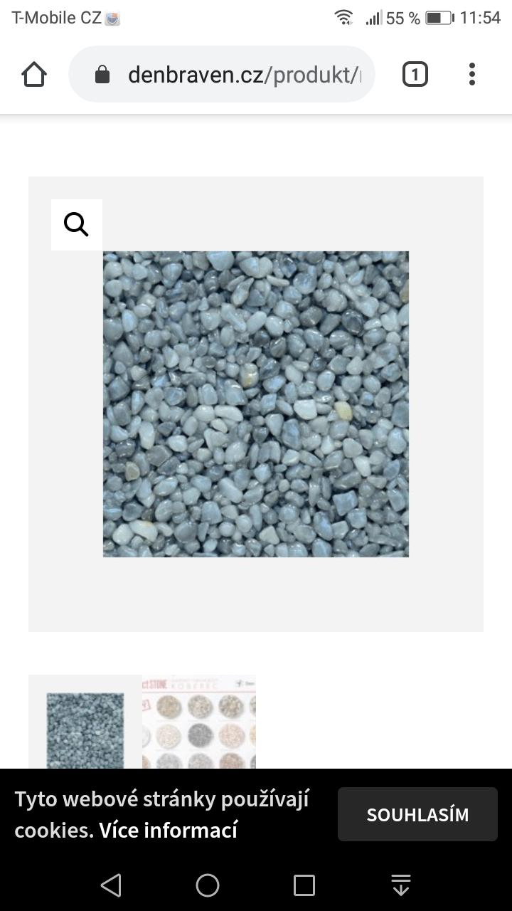 Nemáte prosím někdo kamenný koberec značky Den Braven, mramorovy světle šedý děkuji - Obrázek č. 1