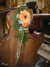 dekorace do kostela na lavice