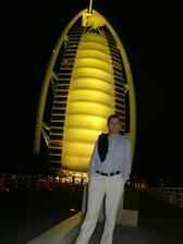 na večeři v hotelu Burj Al Arab