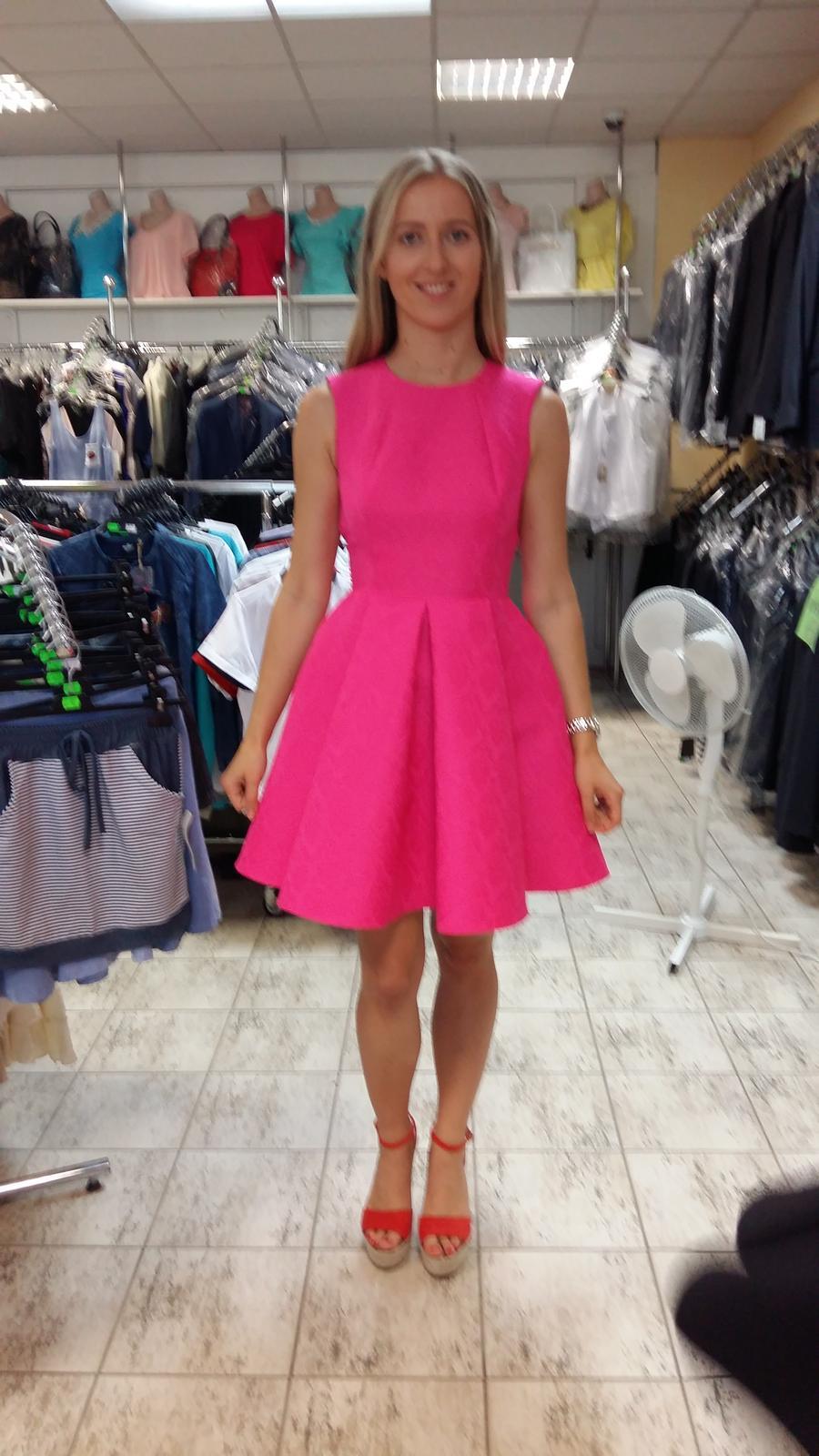 Ružové spoločenské/popolnočné šaty veľ.36 - Obrázok č. 1
