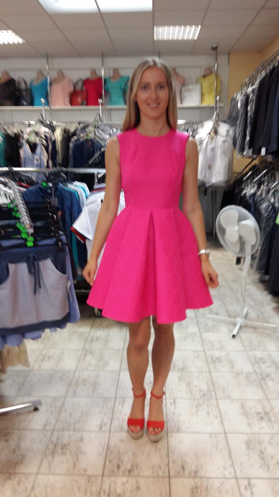 Ružové spoločenské/popolnočné šaty veľ.36 - Obrázok č. 3