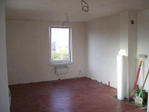 obývačka - detto - kachličky budú pod pieckou