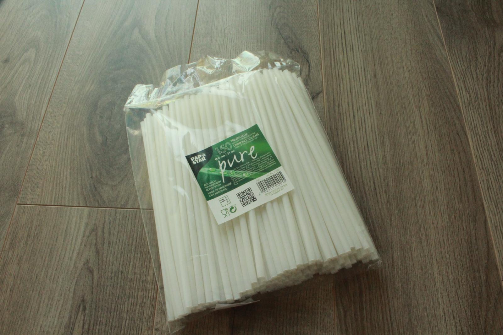 Bílá brčka 150 ks - Obrázek č. 1