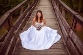satenove svadobné šaty, 36