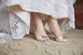 bílé svatební boty Badgley Mischka, vel 40, 40