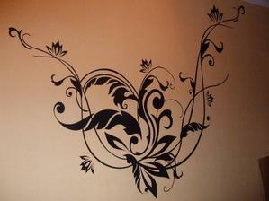 výtvor na kuchynskej stene