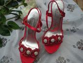 Červené páskové boty, 37