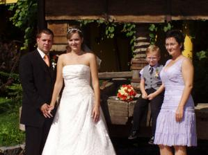 s mojí sestrou a mým synovcem