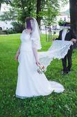 Zoštihľujúce svadobné šaty (veľkosť 44), 44