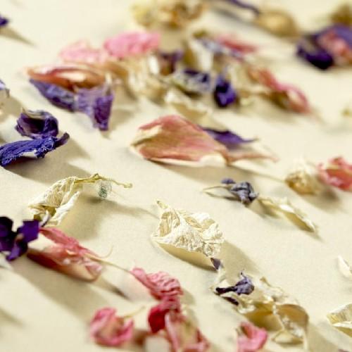 V jednoduchosti je krasa* - dnes som zacala pracovat na wedding confetti :) vsetko nam vonku kvitne a tam mam zo zahrady biele a zlte lupienky.... z lesa ususene bluebells, a z odlozenych valnetinskych kytic od mojho draheho mam lupene z ruzi... krasny love mix