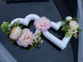 Kvetinové srdcia s prísavkami na auto,