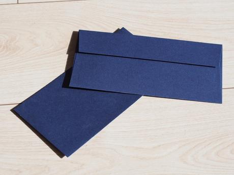 Modré metalické DL obálky - Obrázek č. 1