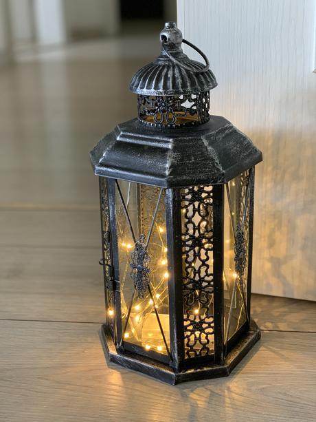 Velká kovová lucerna na svíčku nebo světélka - Obrázek č. 1
