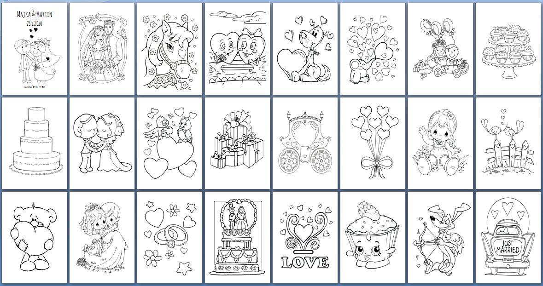 Svadobné omaľovánky pre deti - Obrázok č. 3