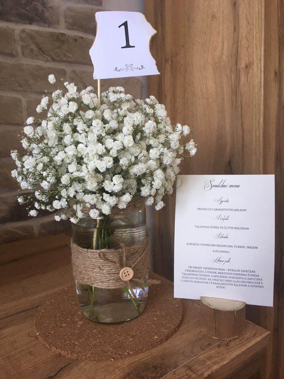 Drevený vintage Držiak na menovky a svadobné menu - Obrázok č. 4