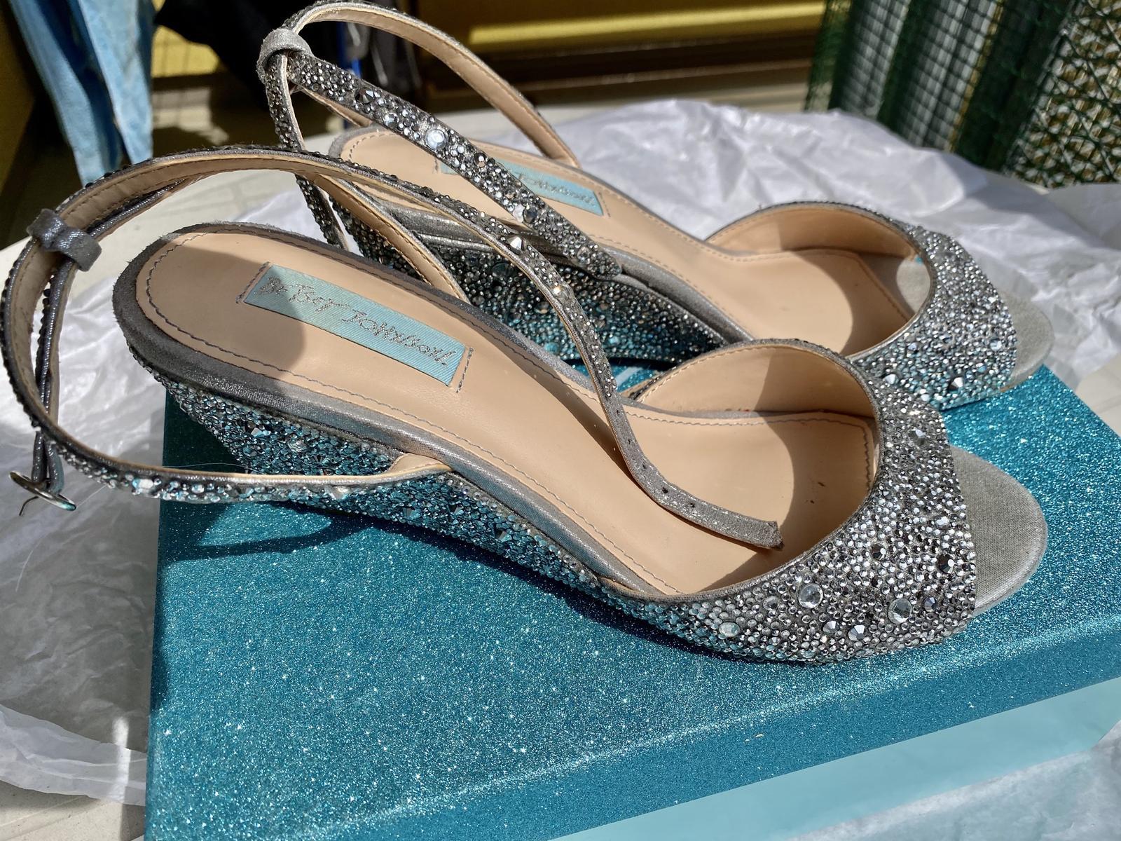 Svatební botičky s kamínky - Obrázek č. 1