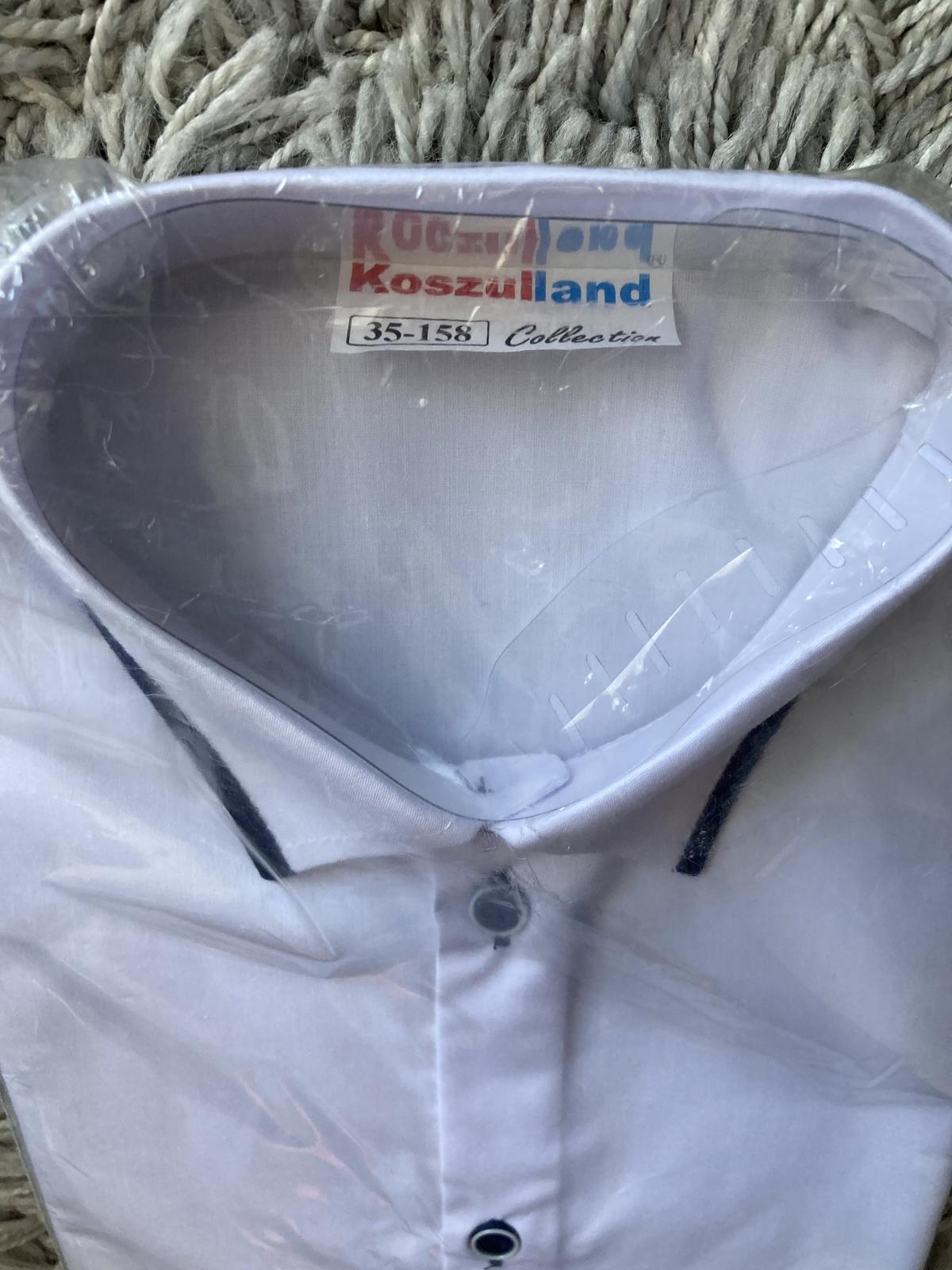 Nová chlapecká košile vel. 158 + motýlek - Obrázek č. 1