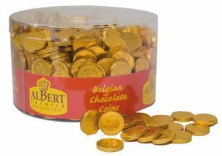 Čokoládové penízky na dekoraci tabule (pro štěstí)