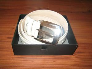 Krémový pásek pro ženicha :-)