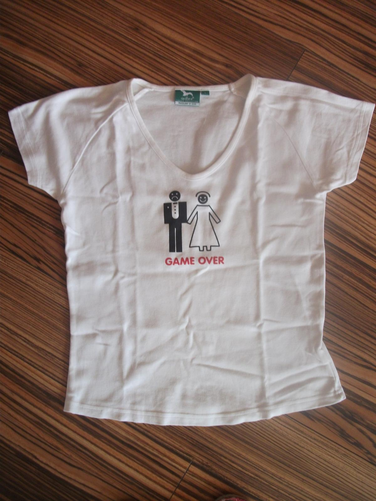 Dámske a pánske tričko GAME OVER - Obrázok č. 1