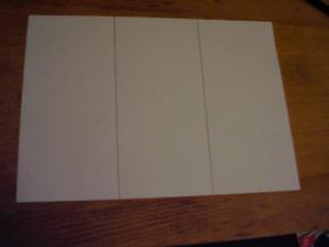 1) Čtvrtku vertikálně rozdělte na 3 stejné části.