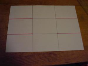 3) Rozstříhněte růžové čáry které vidíte na obrázku
