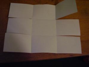 4) Zohýbejte všechny sklady podle všech čar