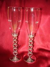 Naše svatební skleničky - ještě chci na ně nechat vypískovat naše jména a datum svatby