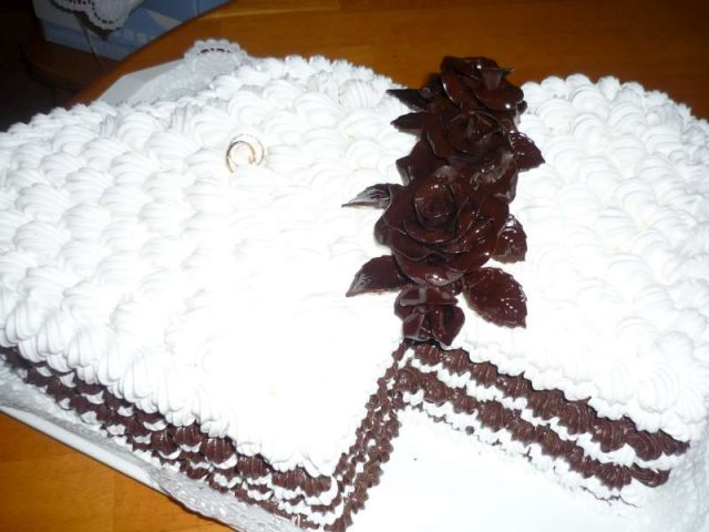 Linda & Jani - a mňam mňam penová torta od maminy :P
