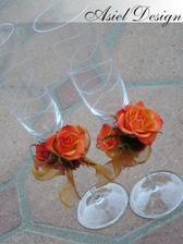 pekne ozdobené poháre