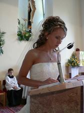 Druhé čítanie v kostole.