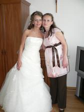 nevestina sestrička Janka s malou Tatiankou v brušku, ktorá prišla na svet týždeň po svadbe