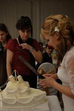 svadobná torta je na rade
