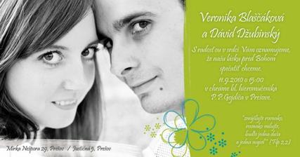 Toto je naše svadobné oznámenie :o)