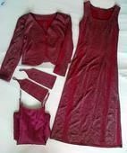 Šaty šité na zakázku + doplňky, 36