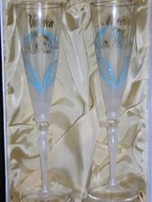 naše krásne svadobné poháre! sú naozaj krásne :)