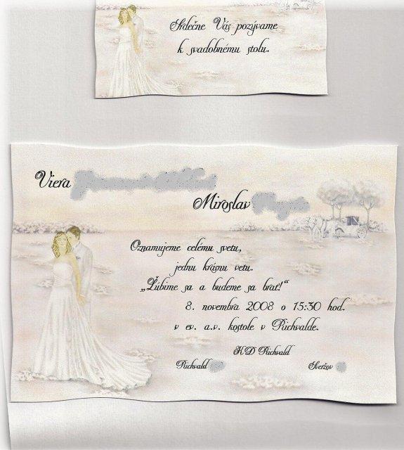 Vierka{{_AND_}}Mirko - naše svadobné oznámenie