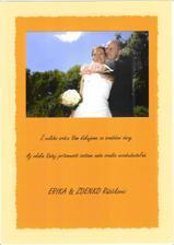 podakovanie pre svadobčanov