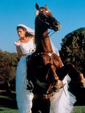 tohle mi snad nikdo nevymaže- přijedu na koni...tahle nevěsta, ale spíše zdrhá