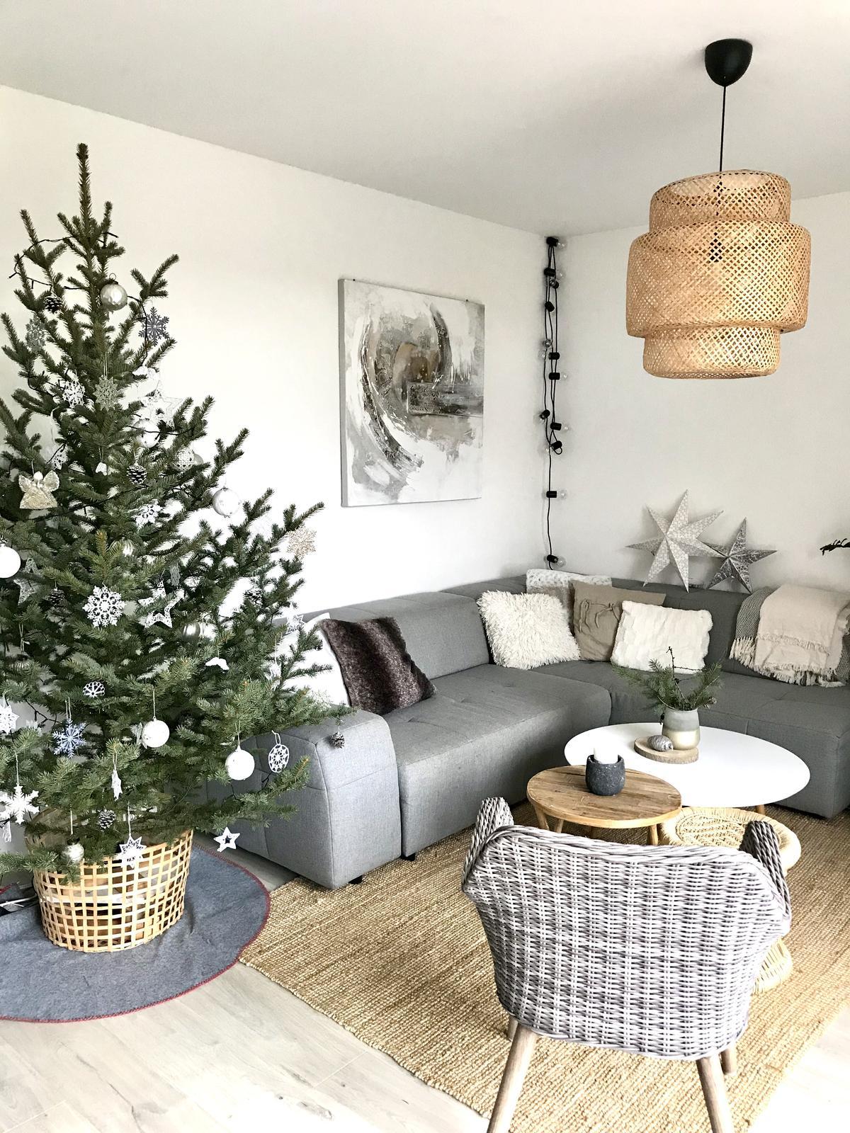 Naše nové DOMA❤️... jak budujeme v roce 2020 - Z vánočního zůstal už jen stromek, ale zimní dekorace jsko větvičky, modřín, svíčky, sušinu apod., tu si ještě nechávám :-)