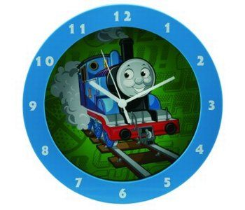 Children's kingdom - Hodiny Wesco nástenné hodiny vláčik Tomáš