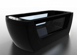 Gruppo Tresse-Jednoduchý modernej čiernej voľne stojaca vaňa dizajnu