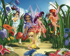 3D tapeta  MAGICAL FAIRIES MURA