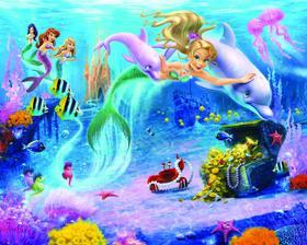 3D tapeta morská víla