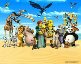 3D tapeta DREAMWORKS