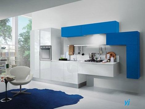 Moje milovane farby v interieri- modra, biela, - Sofistikovaný modulárny systém kuchyne